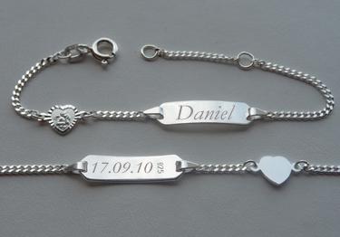 Silber armband mit namen baby