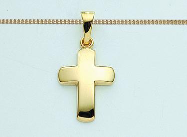 Goldkette mit kreuz 585  Kinder Taufe Kommunion Firmung Kreuz Anhänger Echt Gold 585 mit ...