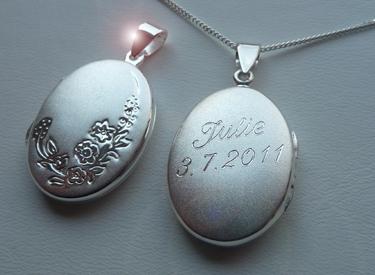 foto medaillon amulett mit pers246nlicher namen gravur echt