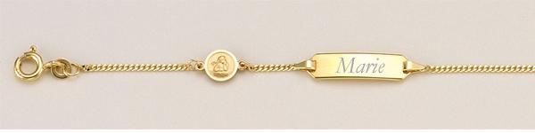 Baby goldarmband 585